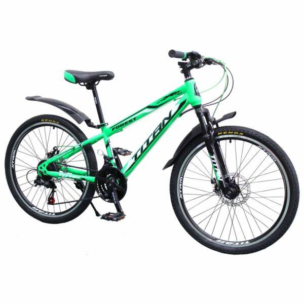 Фото Горный Велосипед 24 Titan FOREST зелено-черно-белый 2019