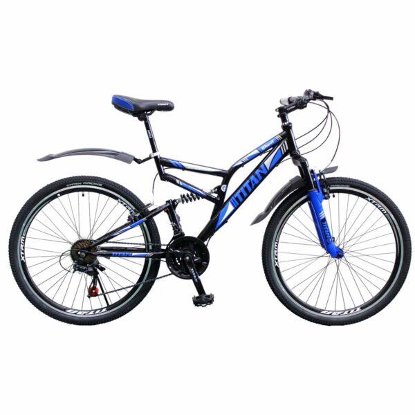 Фото Горный Велосипед 26 Titan Ghost черно-синий 2019