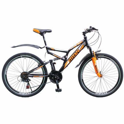 Фото Горный Велосипед 26 Titan Ghost черно-оранжевый 2019