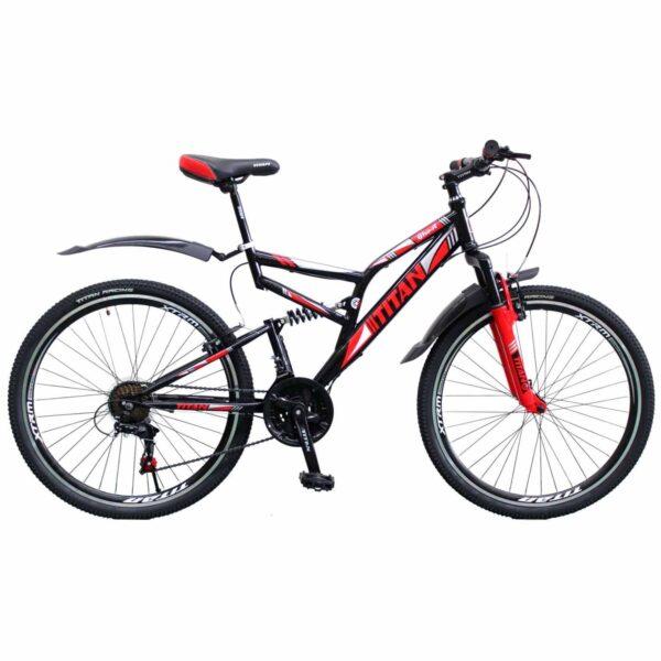 Фото Горный Велосипед 26 Titan Ghost черно-красно-белый 2019