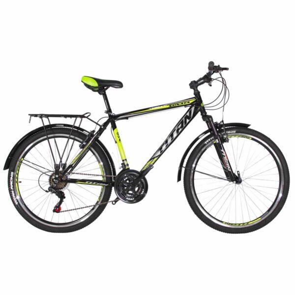 Фото Городской Велосипед 26 Titan Sonata черно-зелено-белый 2019