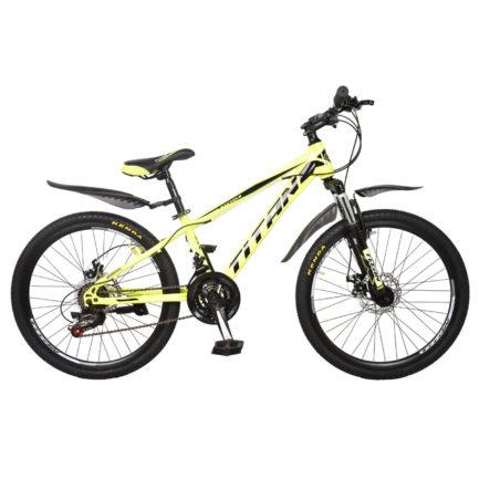 Фото Горный Велосипед 24 Titan Spider черно-светлозеленый 2019