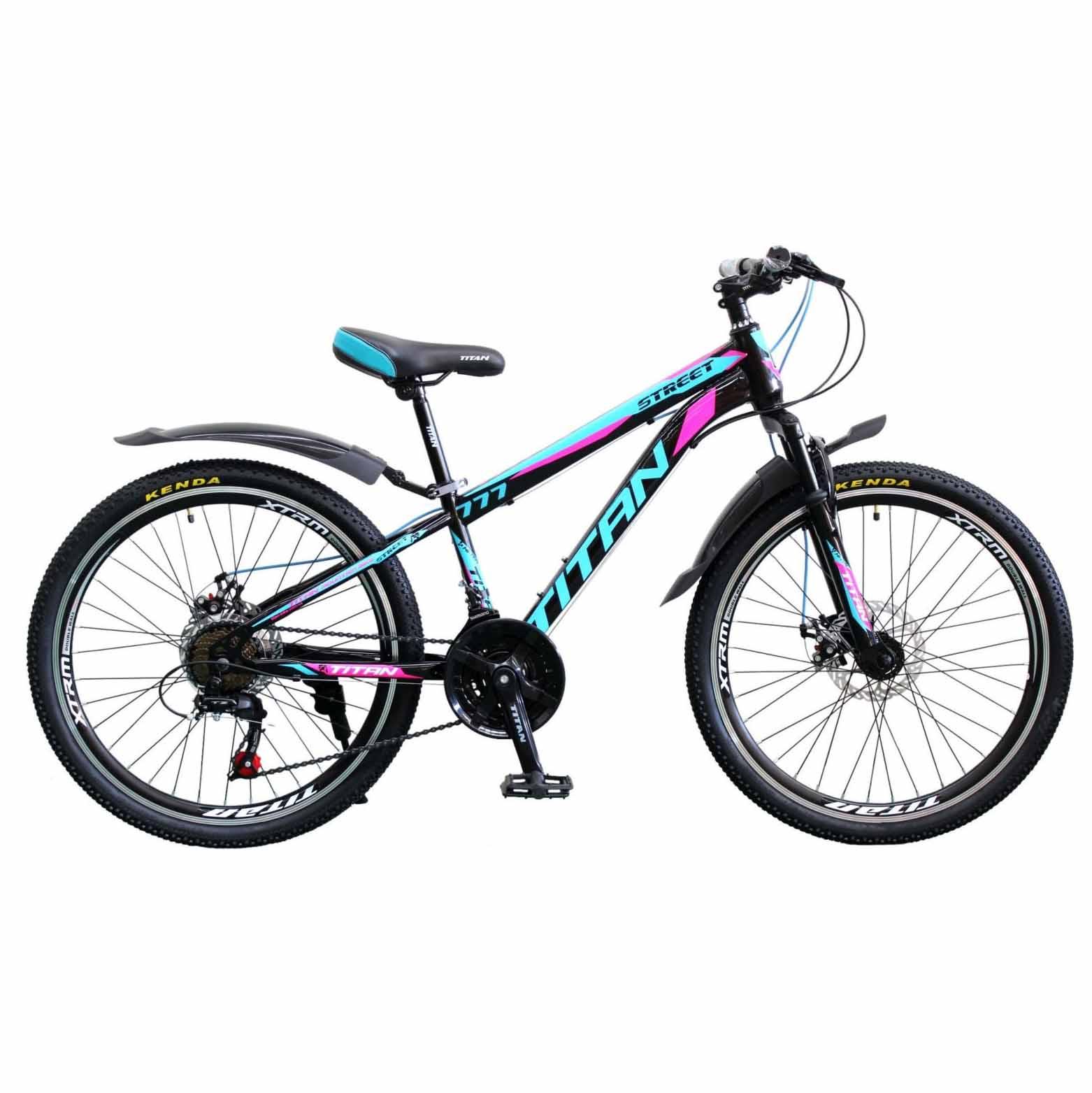 Фото Горный Велосипед 26 Titan Street черно-сине-розовый 2019