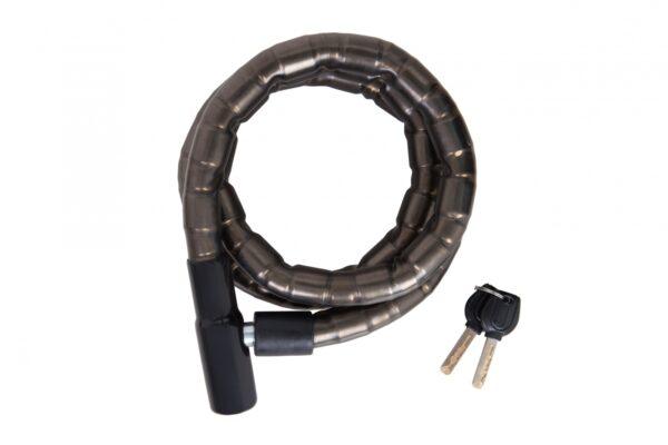 Фото Замок TY206 на ключе в силиконе со стальным тросом 22mmX1500mm